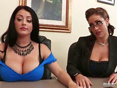Eva Notty And Sophie Dee Taking Interview Of Johnny Sins