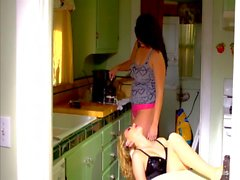 Alison Tyler & Katie Summers fuck in the kitchen