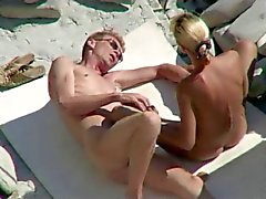 Voyeur on public beach sex