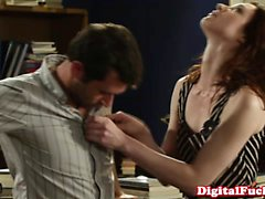 Classy redhead pussyfucked deeply
