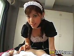 Japanese Maid Giving A Blowjob POV