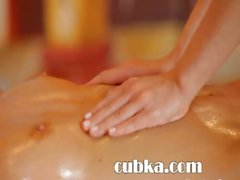Ultra erotic massage between blonds