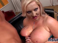 Chubby MILF with monster tits gets nailed