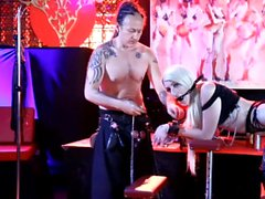 reality live BDSM show from night club bondage spanking