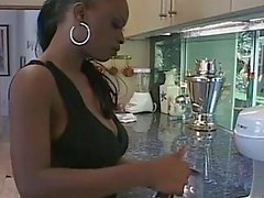 Wet latex dreams for hot ebony chick