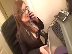 Office babe secretary Rough Interracial oral Blowjob Black boss in uniform