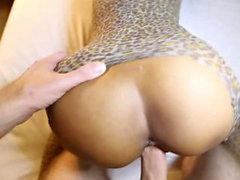 Puta asiática Hottie Ride Big Cock