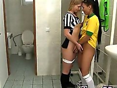 Brazilian player drilling the referee