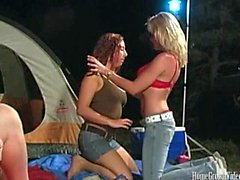 Campsite Gets Hardcore With A Sexy Threesome