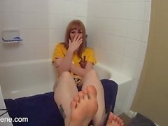 Cute teen feet tickle