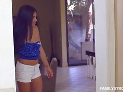 Family sex with a legal age teenager floozy