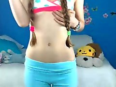 Caliente adolescente de frontal de WebCam # una