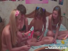Four serbian teens in live show