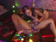 Jada Fire plays with another girls with wet pussy and dildo