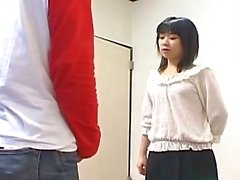 Naughty japanese teen slut giving sweet boner awesome handjob