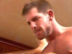 Ass eating buff hunk cums