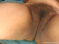 Plump hairy pussy on big cock