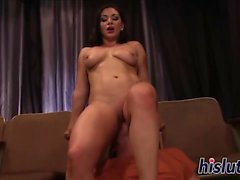 Naughty Lea loves her stud is huge shaft