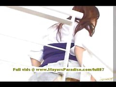 Miyu Hoshino Chinese girl in school uniform rubs her wet pussy