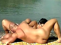 German Mature Sex by the River