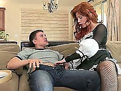 Hot redhead maid needs cock