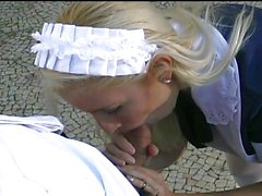 Ultra hot blond maid banged
