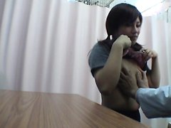 Naughty asian nympho fingering her hairy part6