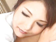 Kinu Misawa breasty nurse licks and rides shlong