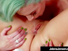 Green Haired Jelena Jensen Fucks Short Hair Milf Ryan Keely!