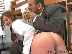 Two Schoolgirls Share Professors Cock