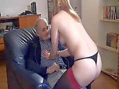 French Slut A41 babe maid old man threesome