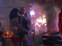 Simony Diamond and Tiffany Shine have fun in the candle light