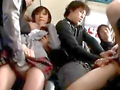 Schoolgirls Abused by Pervs in a Bus!