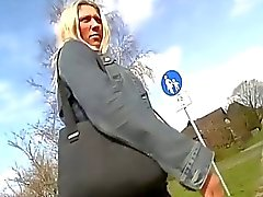 Horny german blonde chick enjoys hardcore anal fucking