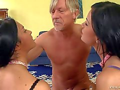 Abbie Cat and Bettina DiCapri love group sex