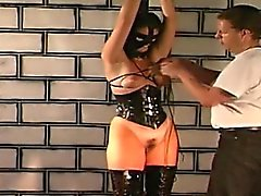 Master ties horny bitch and spanks her hard