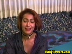 Retro ebony redhead pounded by older guy