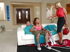 Alina Li shares her man with hot mom Nikki Benz