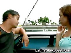 Latin gf night drive backseat sex part4