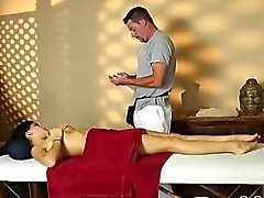 Young Nikki Knightly got excited by a naughty massage