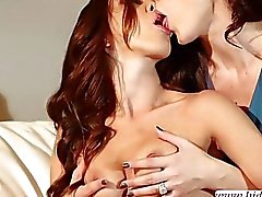 Pretty Jelena Jensen and Jenna Sativa getting naughty with a sex toy