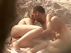 Nude Beach - Hot cute blond couple play