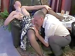 She rides daddy's cock