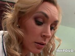 HD Blonde british milf gives erotic massage