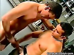 Muscled Latino Takes a Cock