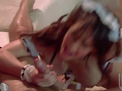 Horny maid Jenna Presley with big breasts can't wait to