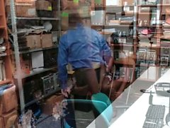 ShopLyfter - Hot Black Teen Thieves Fodido Por Guarda