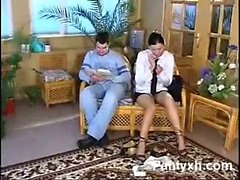 Dominant Teen Pantyhose Softly Penetrated