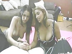 Alexis and Latin Maid cumblast
