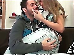 Super hot blond girl gives her boyfriend part3